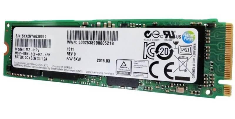 SSD Samsung NVMe PM961 M.2 PCIe Gen3 x4 128GB